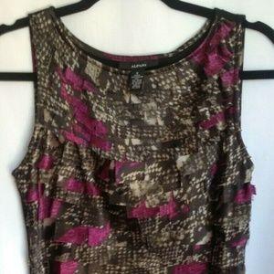 Alfani Women's Sleeveless Layered Dress Size 6